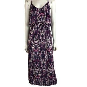 Grayson Threads Women's Maxi Dress 2X Ikat Purple
